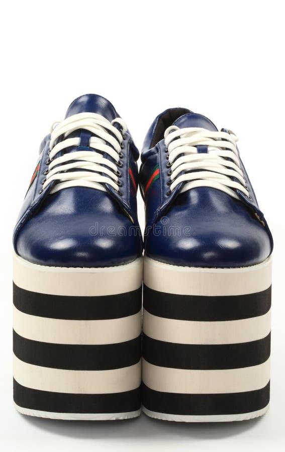 Club Kids Platform Sneakers Stock Image