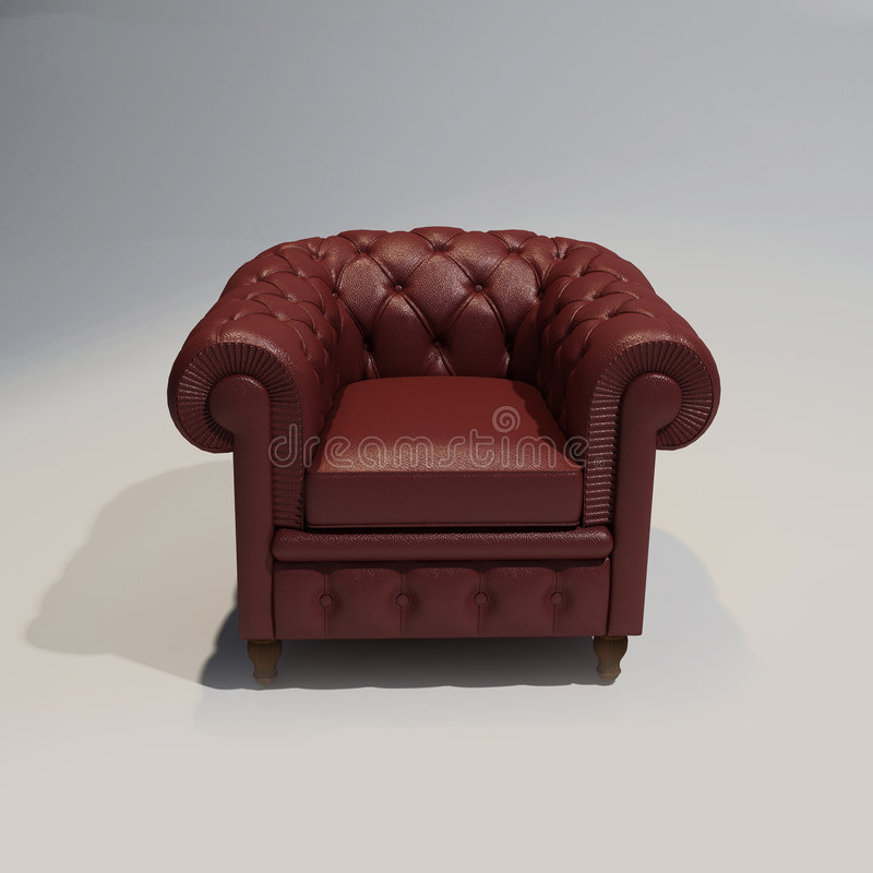 Club leather armchair royalty free stock image