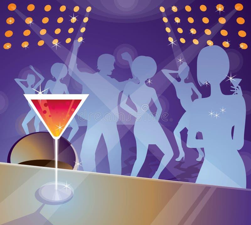 Download Club Life stock vector. Image of lighting, dancing, orange - 10256782