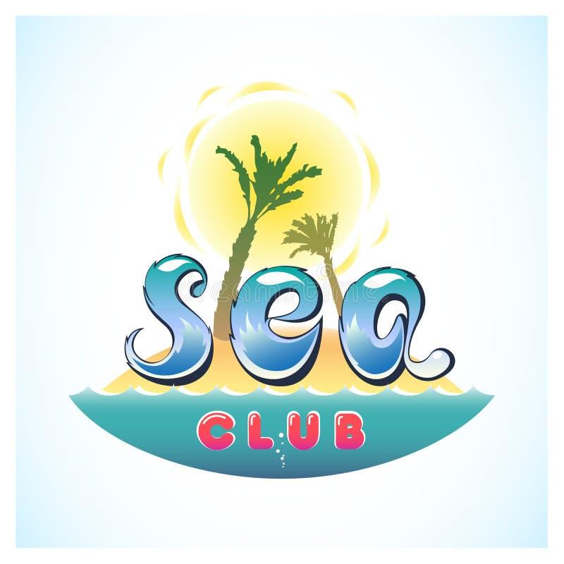 Club Logo Island del mare royalty illustrazione gratis