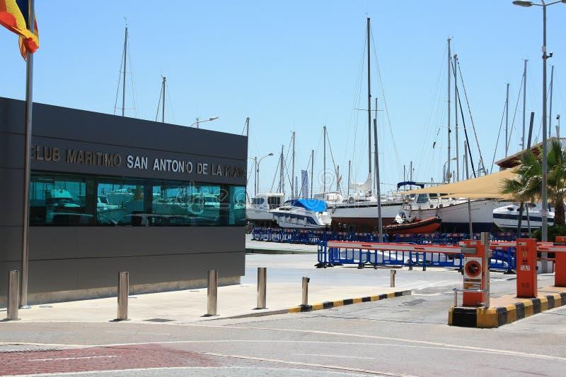 Club Maritimo San Antonio de La Playa stockbild