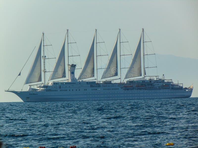 Club Med 2 kryssningskepp royaltyfria bilder