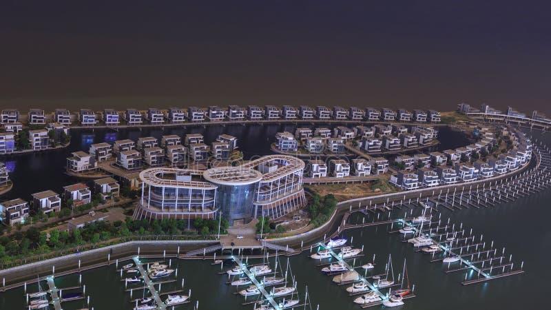 Club náutico de Xiangshan del camino de Xiamen Huandao imagen de archivo libre de regalías