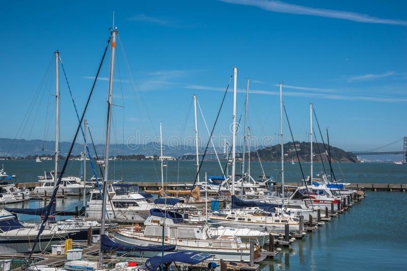 Club náutico en San Francisco fotos de archivo libres de regalías