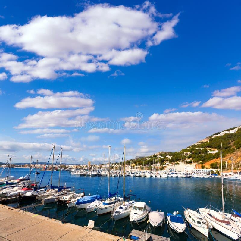Club Nautico de marina de Javea Xabia dans Alicante Espagne photos stock