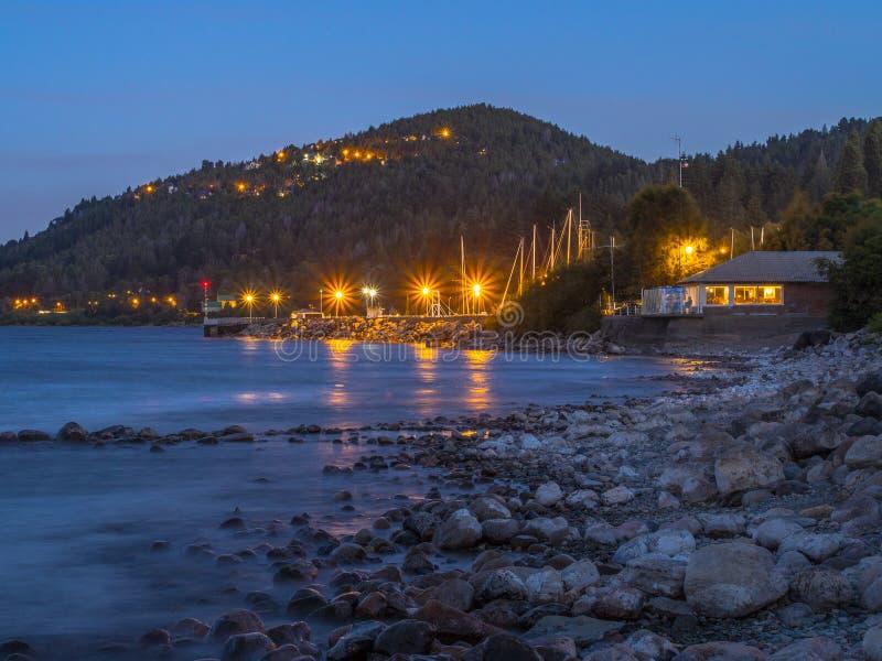 Club Nautico von Bariloche stockfoto