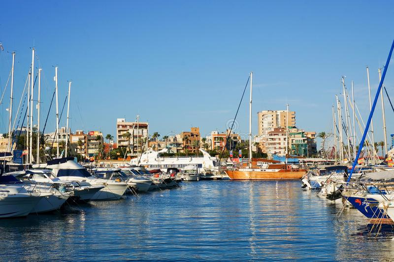 Club nautique de Torrevieja images stock