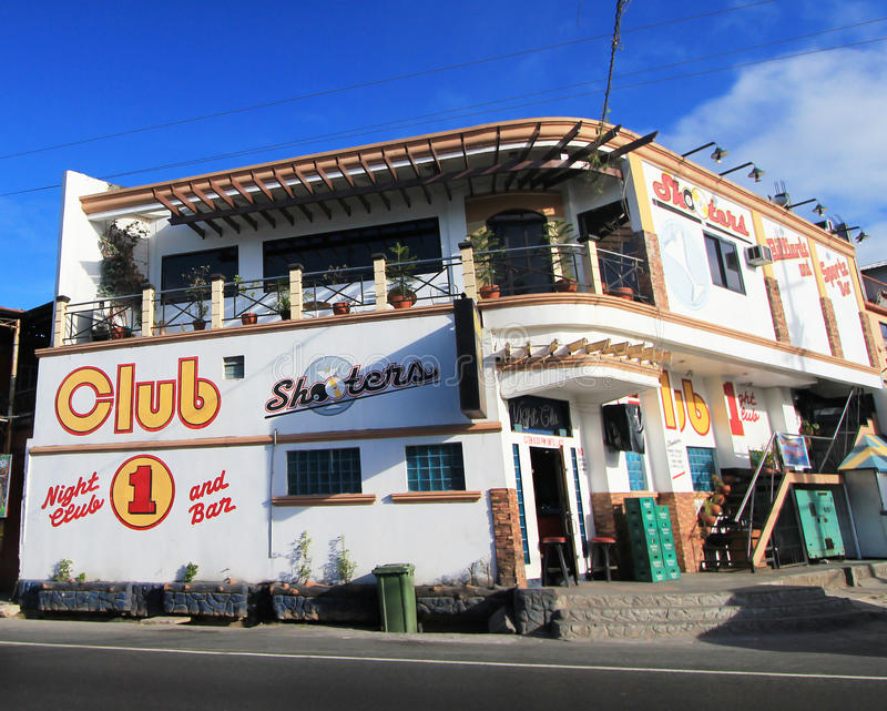 Club 1 Night Club and Bar in Philippines. Club 1 Night Club and Bar, located in Olongapo, Philippines. Club 1 Night Club and Bar is a night club for local people royalty free stock images