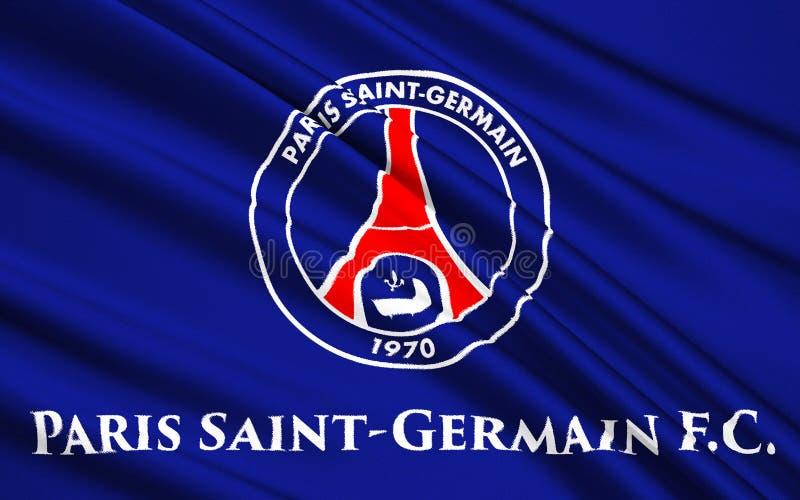 Club Paris St Germain, France du football de drapeau images libres de droits