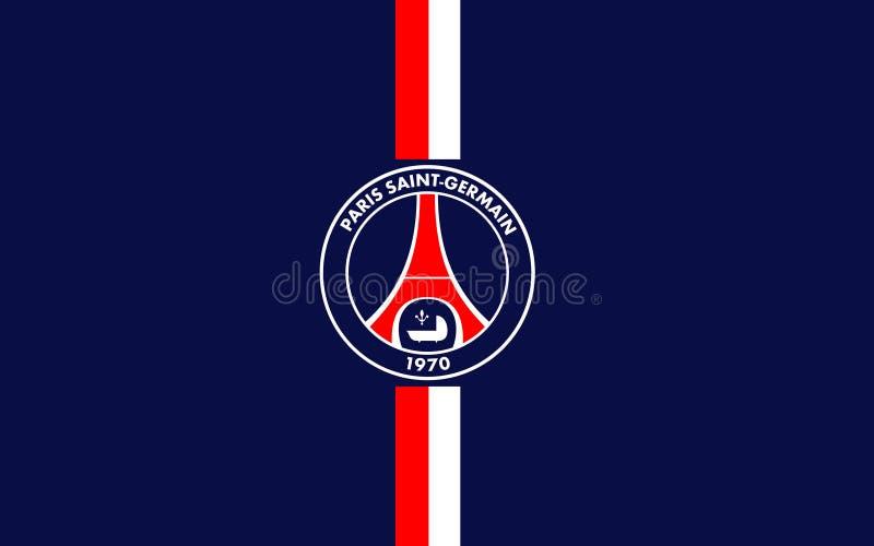 Club Paris St Germain, France du football de drapeau photo stock