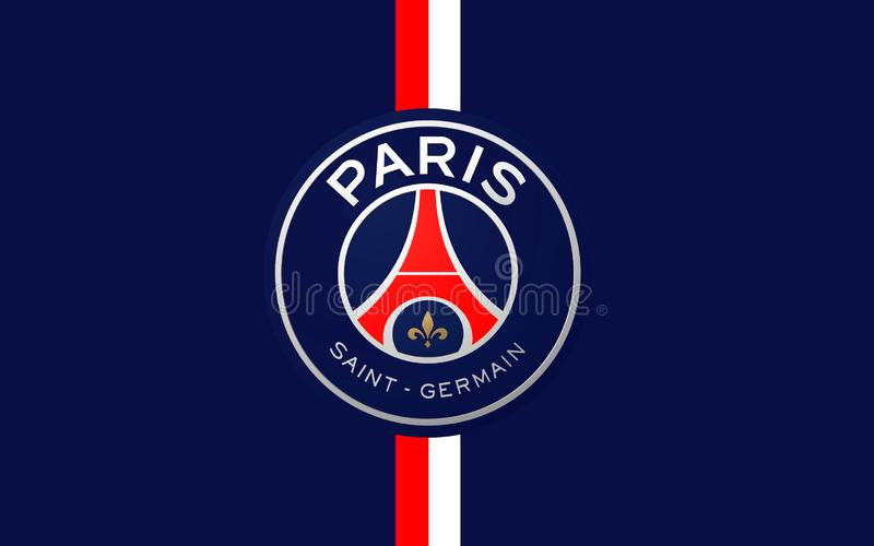 Club Paris St Germain, France du football de drapeau images stock