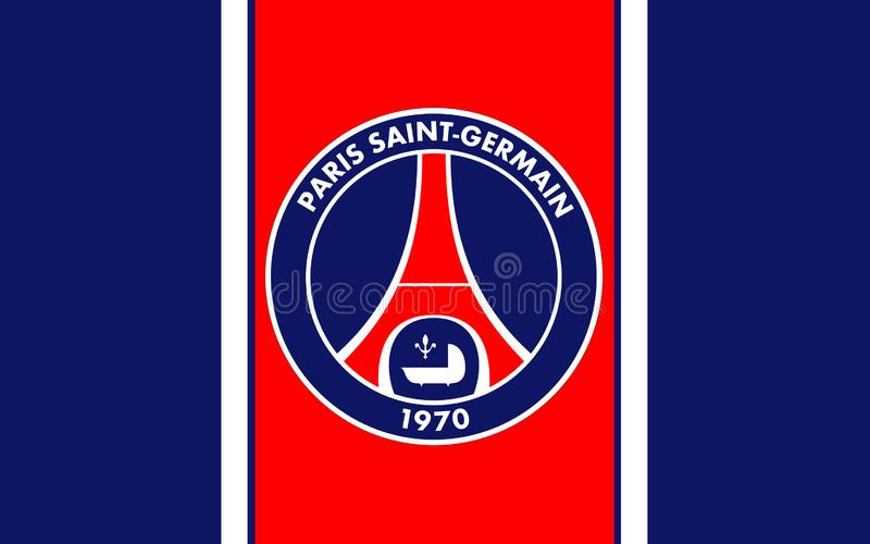 Club Paris St Germain, France du football de drapeau image stock