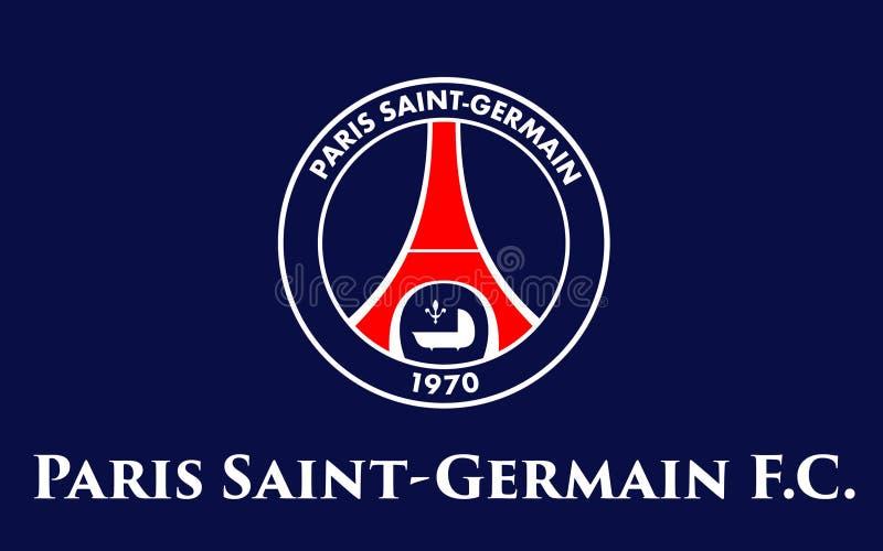 Club Paris St Germain, France du football de drapeau photos stock
