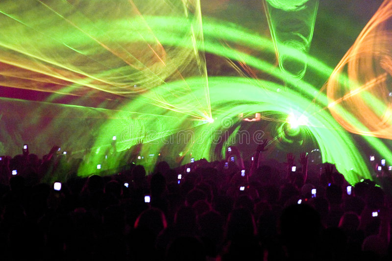 Club party crowd royalty free stock photos