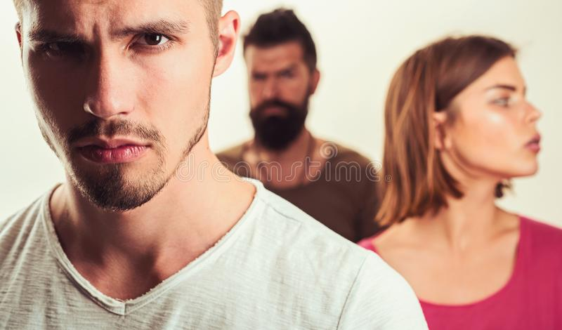 Club for people with problems. family psychologist therapy. man with couple. Love relations of people. Hopes and wishes. Club for people with problems. family royalty free stock photography