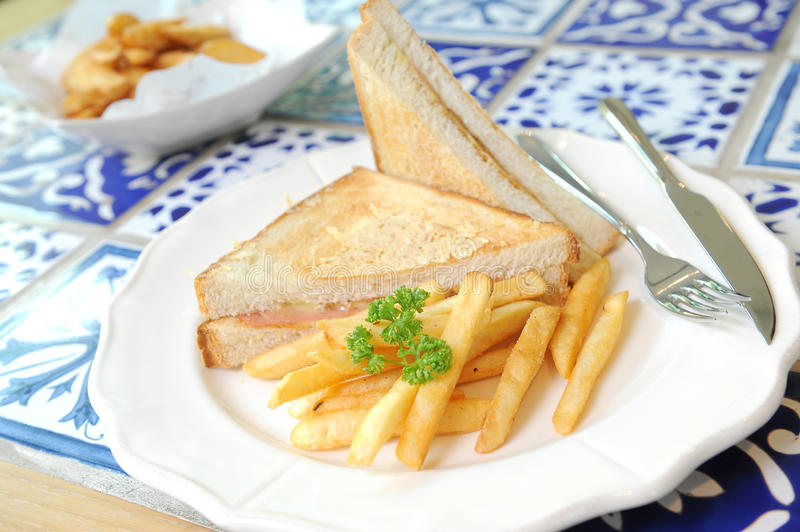 Club sandwich. For this morning royalty free stock image