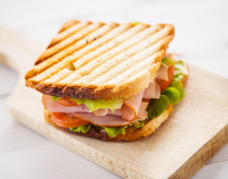 Club sandwich. Close up of fresh club sandwich stock photography