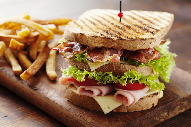 Club sandwich royalty free stock photo