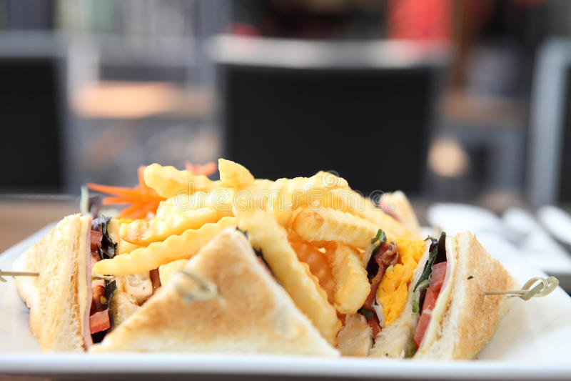 Club sandwich with royalty free stock images
