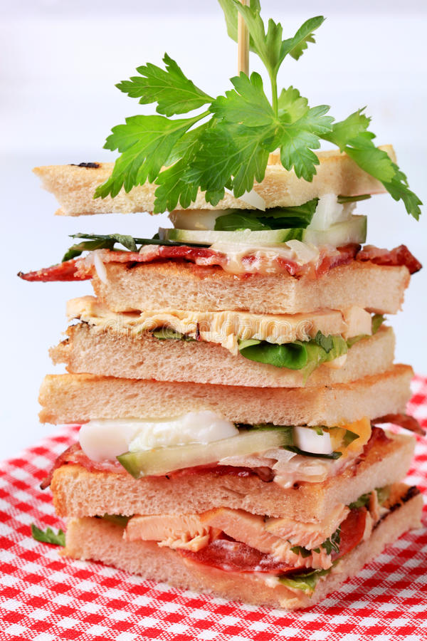 Download Club sandwiches stock photo. Image of toasted, boiled - 13351566