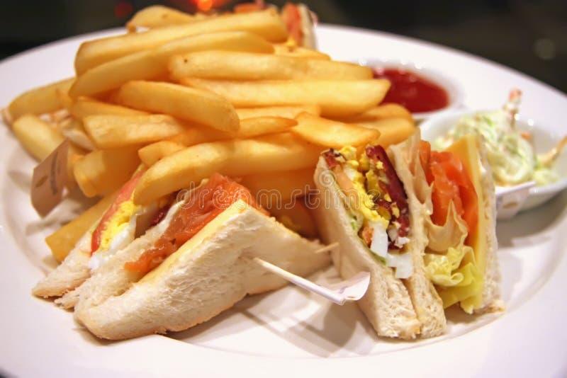 Club sandwiches stock photo