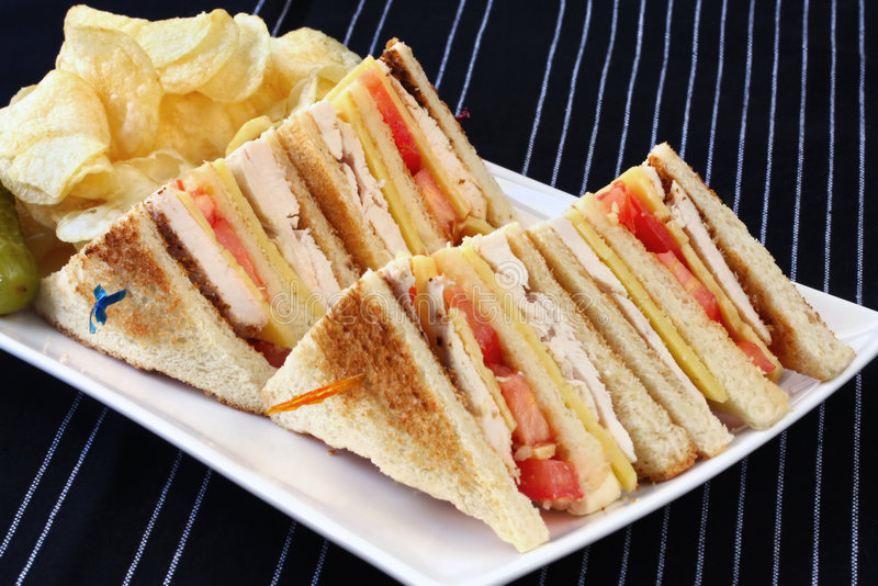 Download Club Sandwiches stock photo. Image of tomatoes, sandwich - 6529950