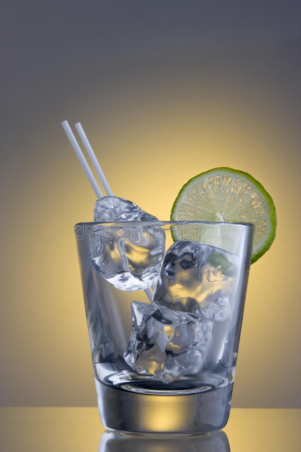 Download Club Soda With Ice And A Slice Stock Photo - Image of refreshing, empty: 12853032