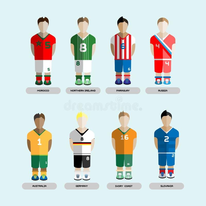 Club Team Players Set di calcio illustrazione vettoriale