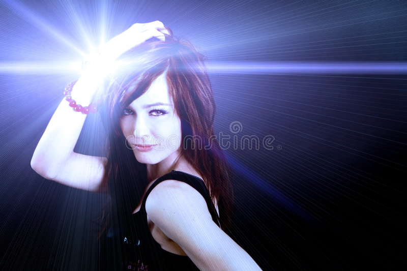 Club woman stock image