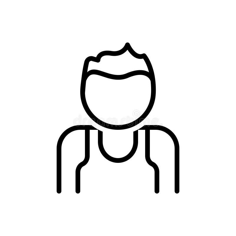 Clubber、成人和字符的黑线象 库存例证