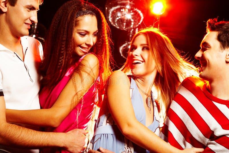 Clubbers stock afbeeldingen