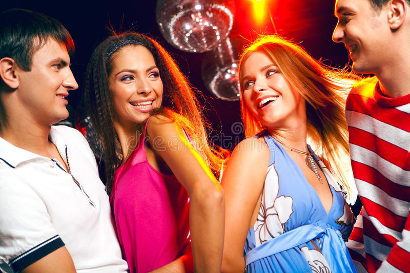 Clubbers royalty free stock images