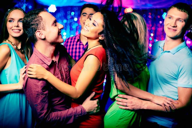Clubbers arkivfoto