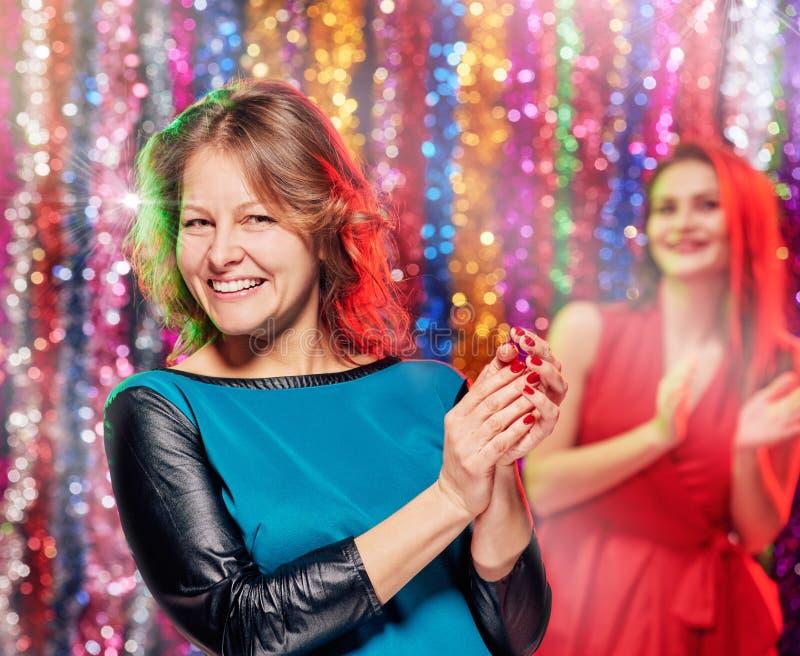 Clubbers die partij hebben royalty-vrije stock fotografie
