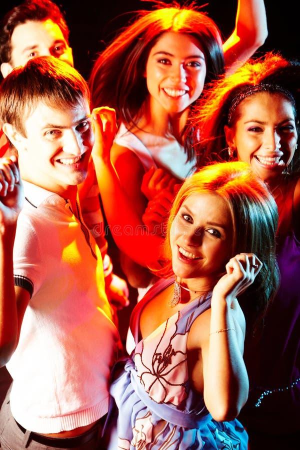 Clubbers intelligents images libres de droits