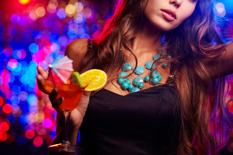 Clubbing Girl Royalty Free Stock Photography