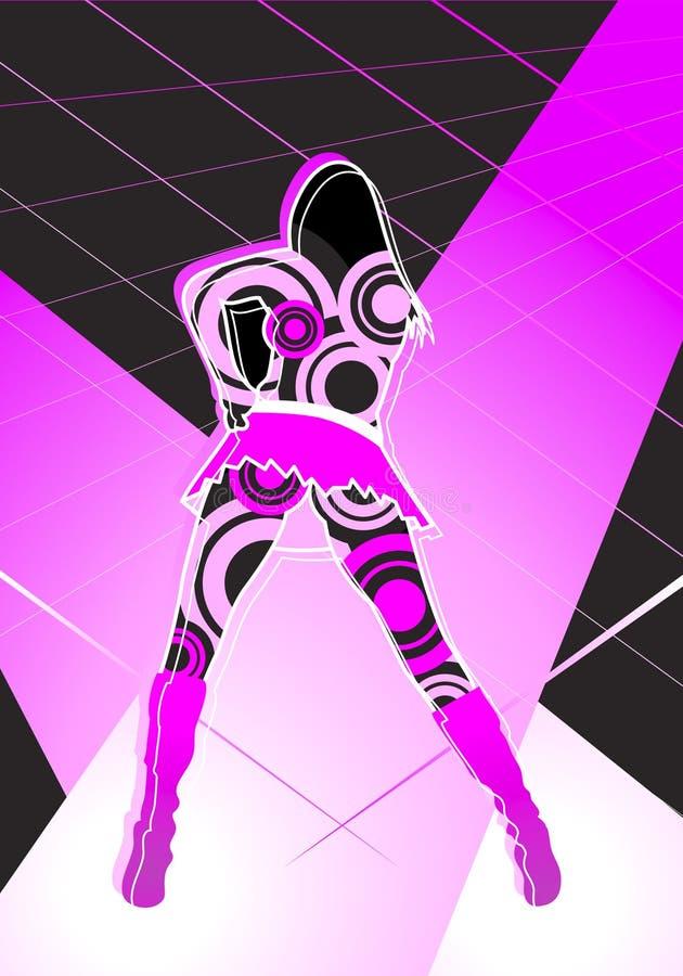 clubbing girl ελεύθερη απεικόνιση δικαιώματος