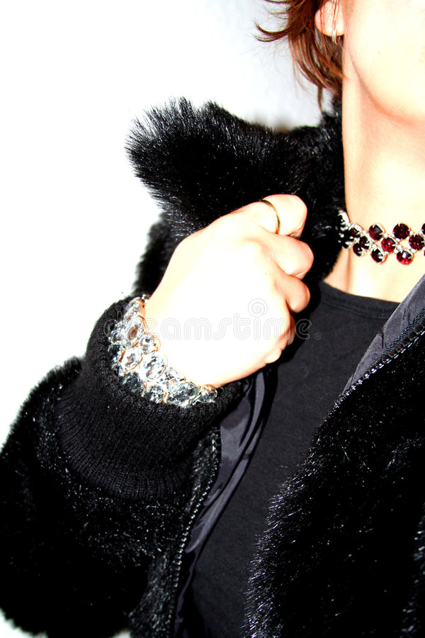 Free Clubbing Glitz - Fur And Rhinestones Royalty Free Stock Photography - 310107