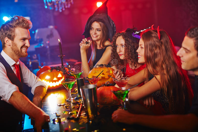 Clubbing at Halloween royalty free stock photos