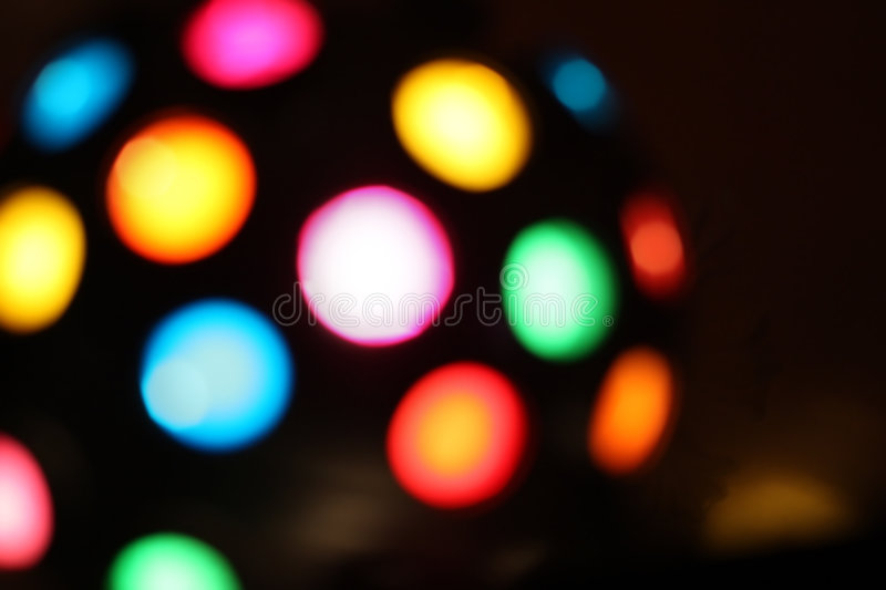 Clubbing light on black background stock image