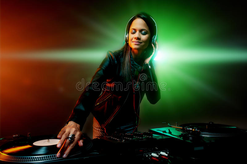 Clubbing party dj stock image