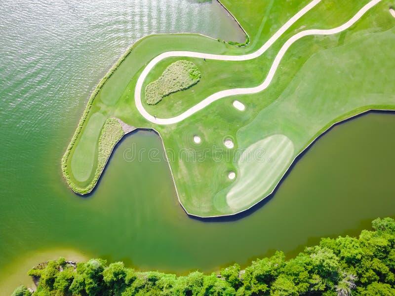 Clube aéreo Austin do condado do campo de golfe, Texas, EUA fotografia de stock