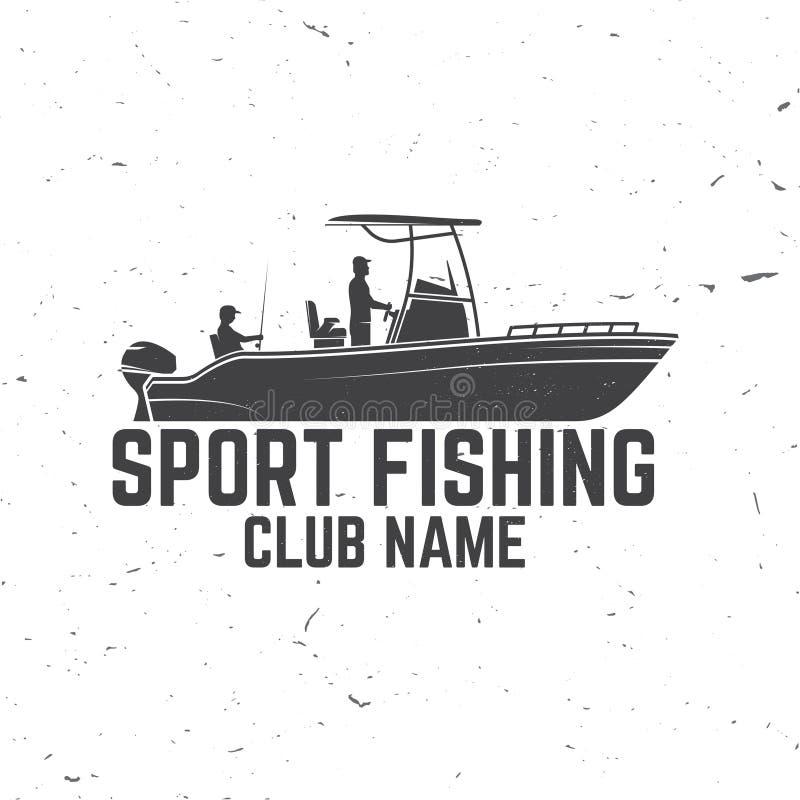 Clube da pesca desportiva Ilustração do vetor ilustração stock