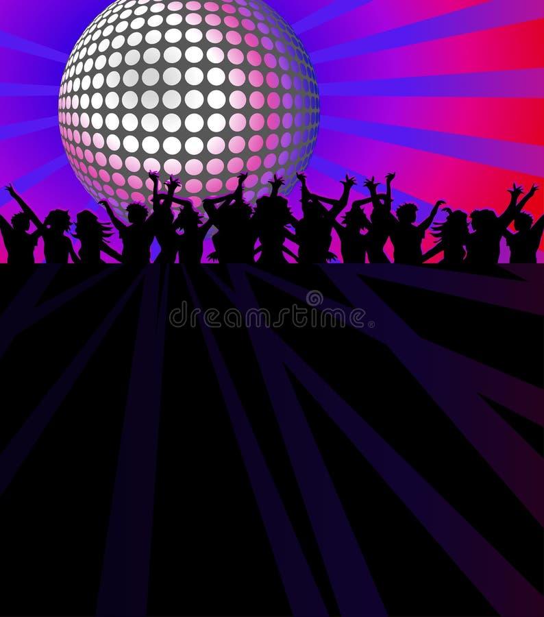 Clube de dança ilustração do vetor