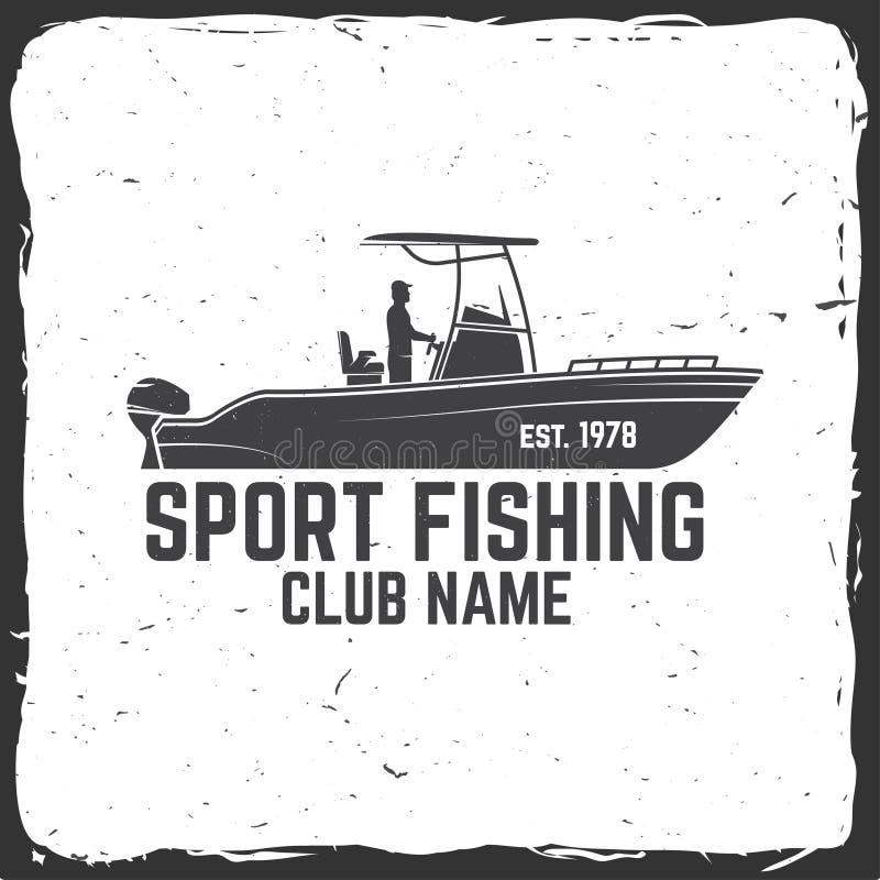 Clube de esporte da pesca Ilustração do vetor ilustração stock