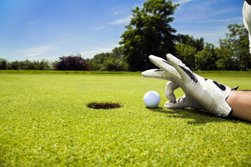 Clube de golfe fotografia de stock