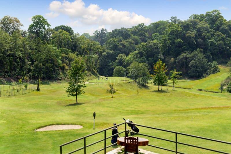 Clube de golfe da floresta de Gokarna em Kathmandu Nepal fotos de stock royalty free