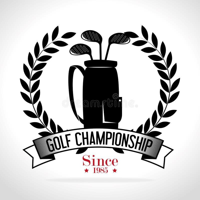 Clube de golfe do esporte ilustração royalty free