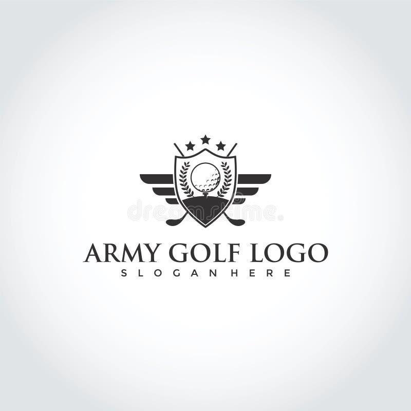 Clube de golfe Logo Design do exército Ilustrador EPS do vetor 10 ilustração do vetor