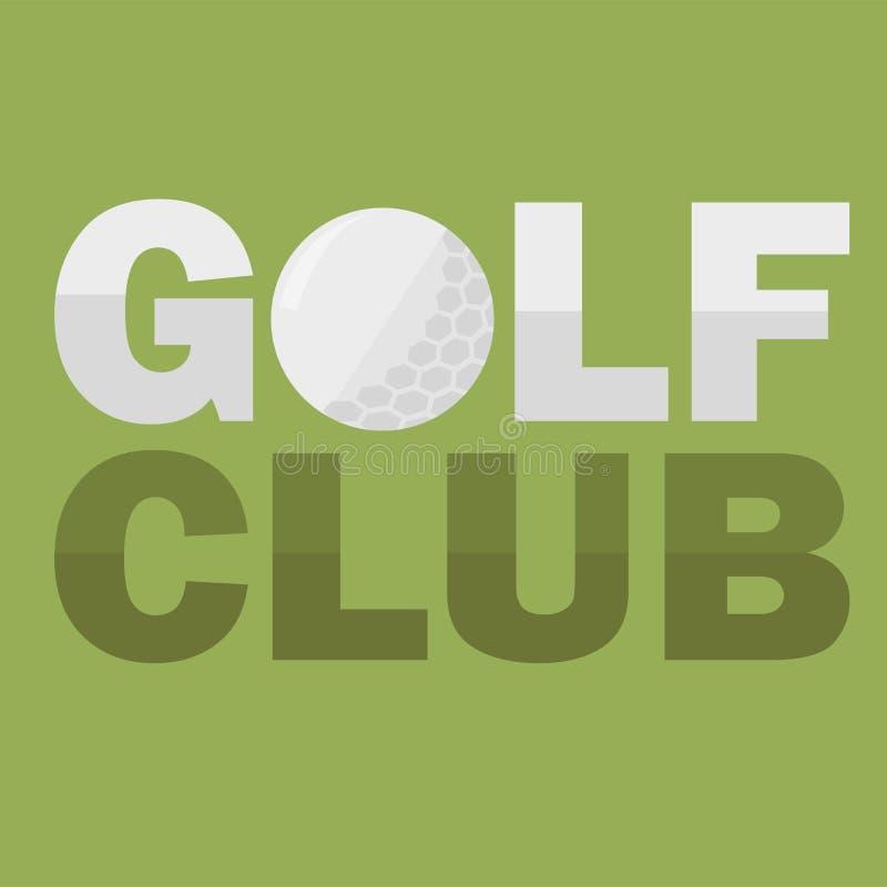 Clube de golfe Logo Design Template no estilo liso Projeto do insecto Ilustração do vetor ilustração stock